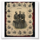 Civil War Heroes USA South Photo Print