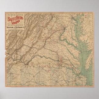 Civil War in Virginia Poster