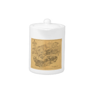 Civil War Knoxville Tennessee Map (1864) Teapot