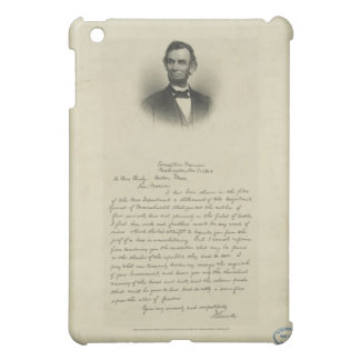 Civil War Letter from Abraham Lincoln to Mrs Bixby Case For The iPad Mini