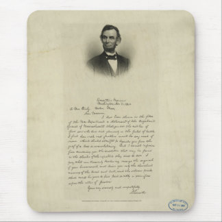 Civil War Letter from Abraham Lincoln to Mrs Bixby Mouse Pad