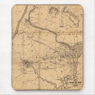 Civil War Map of Battles July 18, 21 & Oct 21 1861 Mouse Pad