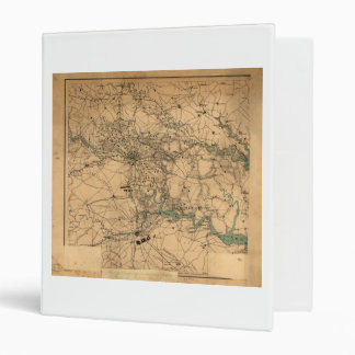 Civil War Map of Richmond and Petersburgh (1864) Binder