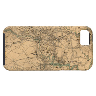 Civil War Map of Richmond and Petersburgh (1864) iPhone SE/5/5s Case