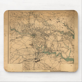 Civil War Map of Richmond and Petersburgh (1864) Mouse Pad