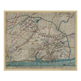 Civil War Map of Shiloh Print
