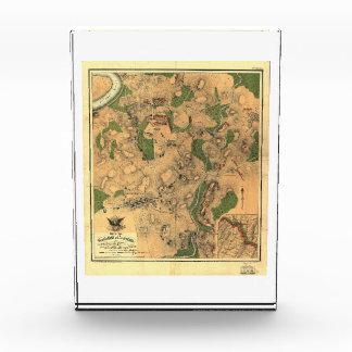 Civil War Map of the Battlefield of Antietam 1862 Acrylic Award