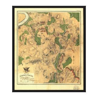 Civil War Map of the Battlefield of Antietam 1862 Canvas Print