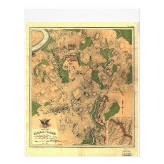 Civil War Map of the Battlefield of Antietam 1862 Letterhead