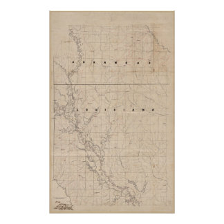 Civil War Map Red River campaign, March 10-22, 186 Poster