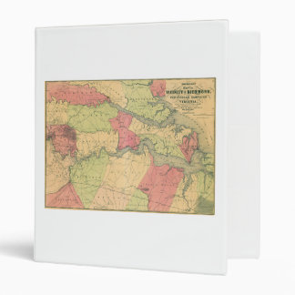 Civil War Map Showing Battlefields of Virginia 3 Ring Binder