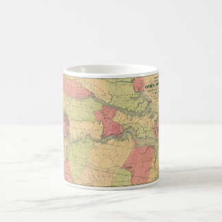 Civil War Map Showing Battlefields of Virginia Coffee Mug