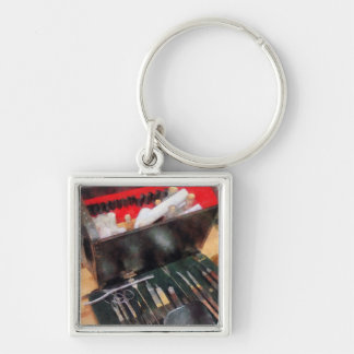 Civil War Medical Instruments Silver-Colored Square Keychain