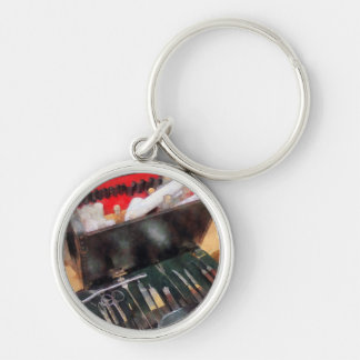Civil War Medical Instruments Silver-Colored Round Keychain