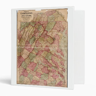 Civil War Military Map Potomac Campaign (1863) Binder