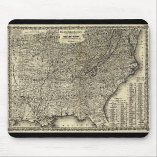 Civil War Military Operations Map The Lost Cause Mouse Pad