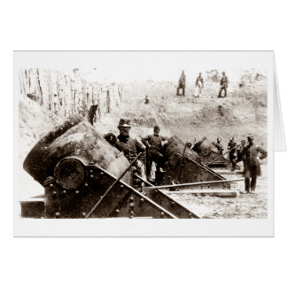 Civil War Mortar battery at Yorktown Greeting Card