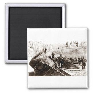 Civil War Mortar battery at Yorktown Fridge Magnets