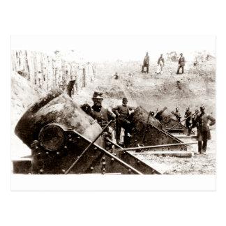 Civil War Mortar battery at Yorktown Postcard