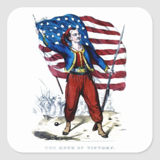 Civil War New York Zouaves Square Sticker