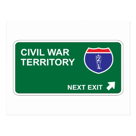 Civil War Next Exit Postcard