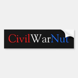 Civil War Nut Bumper Sticker