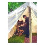 """Civil War Officer's Tent 5"""" X 7"""" Invitation Card"""