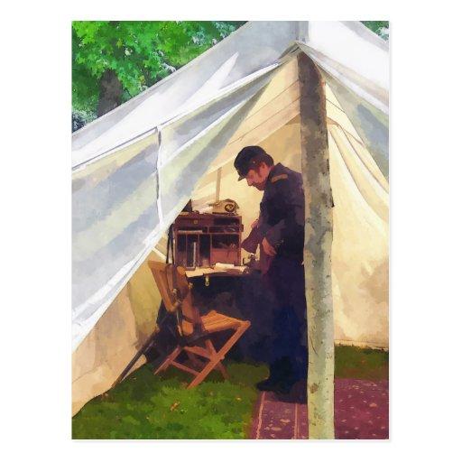 Civil War Officer's Tent Post Card