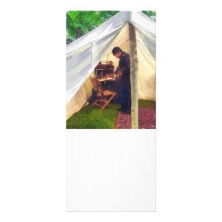 Civil War Officer's Tent Rack Card