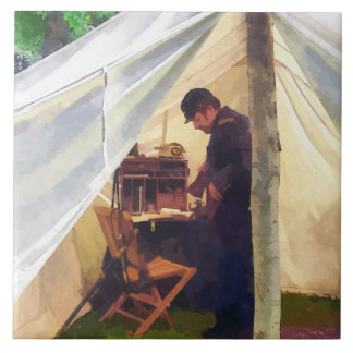 Civil War Officer's Tent Ceramic Tile
