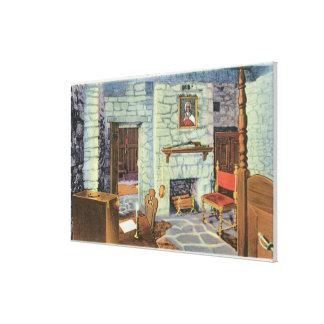 Civil War Period 18 Pounders en Barbette Canvas Print