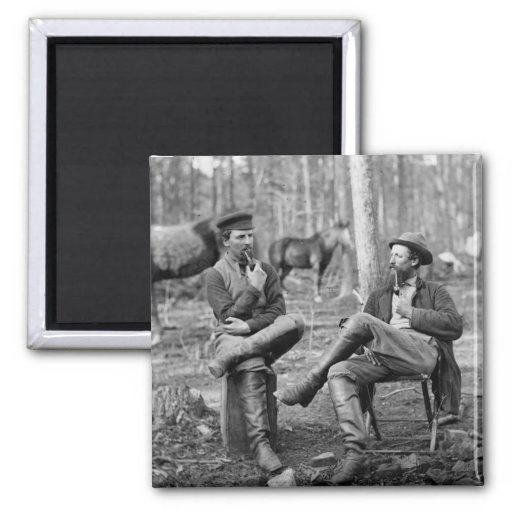 Civil War Pipes, 1864 2 Inch Square Magnet