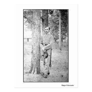 Civil War Portraits Confederate Major Edmonds Post Cards