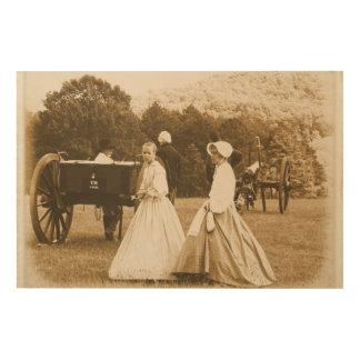 Civil War Print on Wood