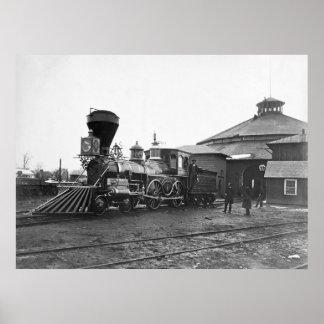 Civil War Railroad, 1860s Poster