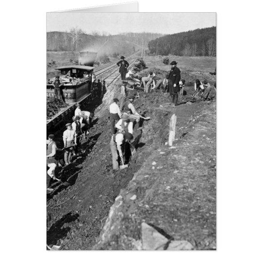 Civil War Railroad at Clifton, Virginia, 1863 Card