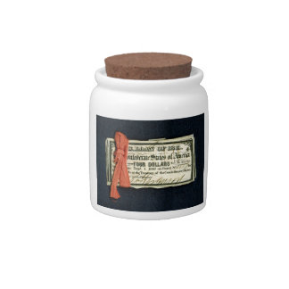 Civil War Red Tape Candy Jars