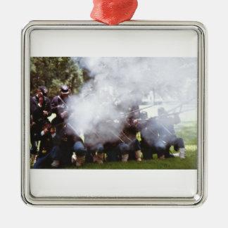 Civil War Reenactment Metal Ornament