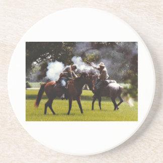 Civil War Reenactment Sandstone Coaster