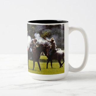 Civil War Reenactment Two-Tone Coffee Mug