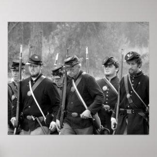 Civil War Reenactment - Union Soldiers Poster