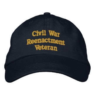 Civil War Reenactment Veteran hat - North Embroidered Baseball Cap