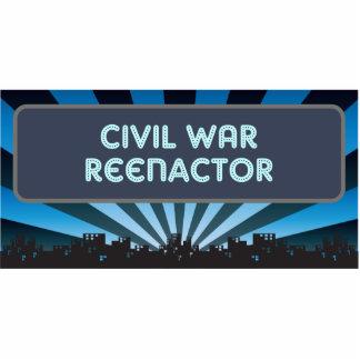 Civil War Reenactor Marquee Photo Sculpture Ornament