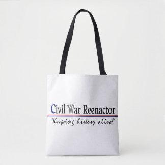 """""""Civil War Reenactor"""" Tote Bag"""
