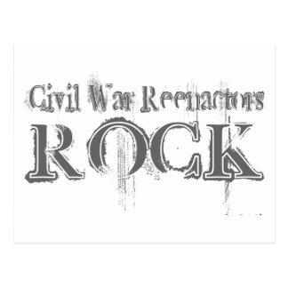 Civil War Reenactors Rock Postcard