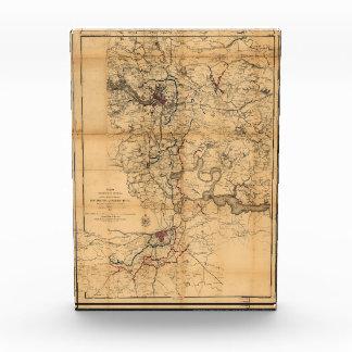 Civil War Richmond and Petersburg Map (1865) Award