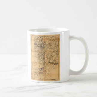 Civil War Richmond and Petersburg Map (1865) Coffee Mug