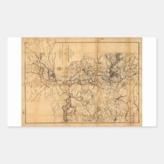 Civil War Richmond and Petersburg Map (1865) Rectangular Sticker