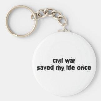 Civil War Saved My Life Once Keychain