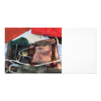 Civil War Sewing Kit Personalized Photo Card